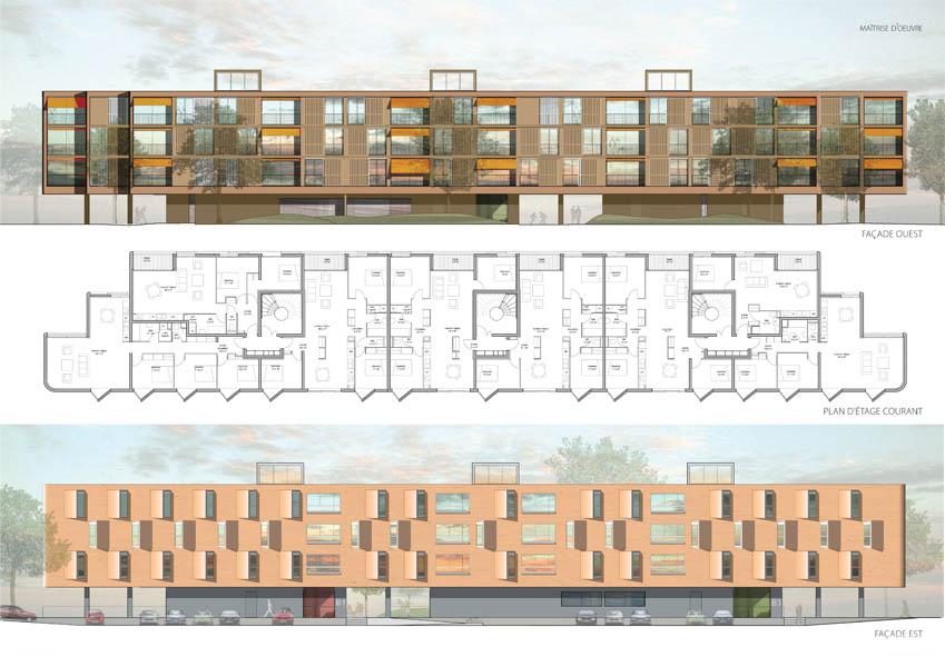 Plan - façade EST et OUEST